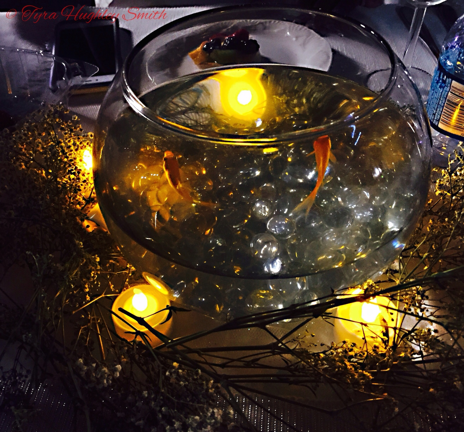BarrisTourista-Diner en Blanc Los Angeles 2015 centerpiece fish