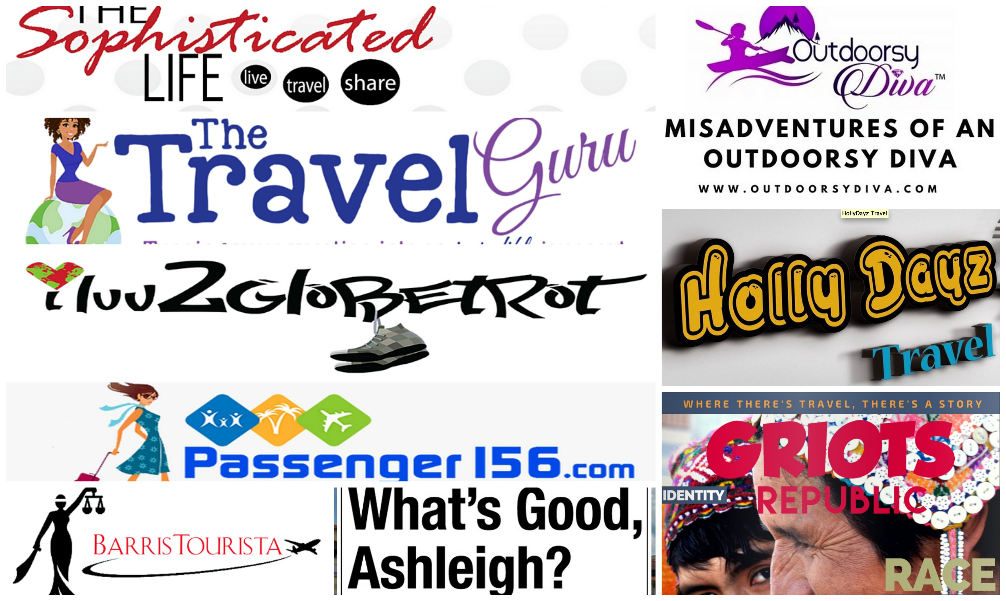 Travel Blogger Collage black owned travel businesses