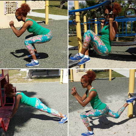 BarrisTourista-Dani Working Out FitNoire 5 quick ways to slim down