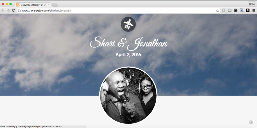 BarrisTourista-Shari Wedding Site honeymoon registry ideas