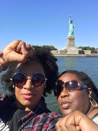 BarrisTourista-Leah and Tyra Black Power Statue of Liberty