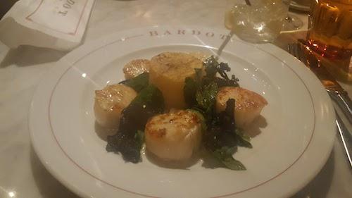 Bardot Brasserie Las Vegas Scallops