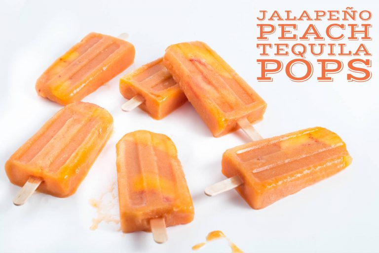 jalepeno peach tequila boozy popsicles