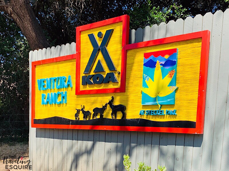 ventura ranch koa holiday kampgrounds of america sign