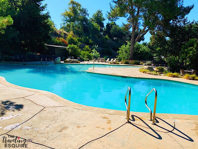 resort style pool at ventura ranch koa glamping