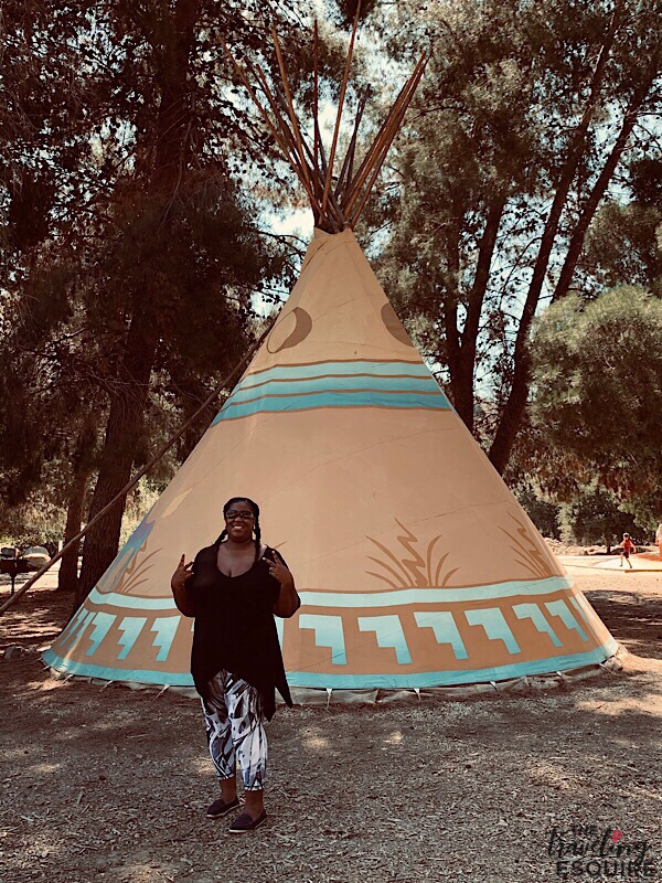 glamping teepee at ventura ranch koa