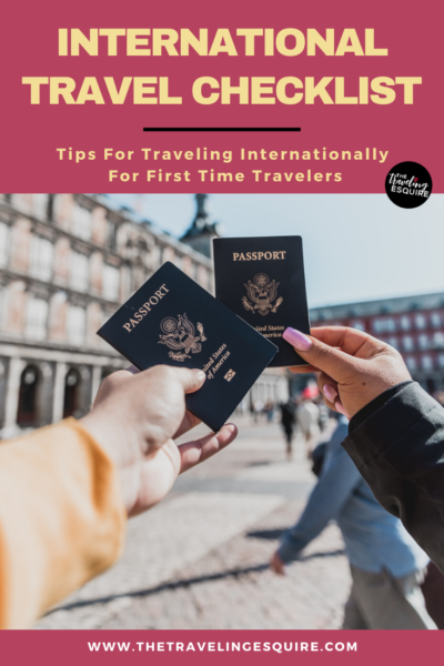 traveling internationally travel tips